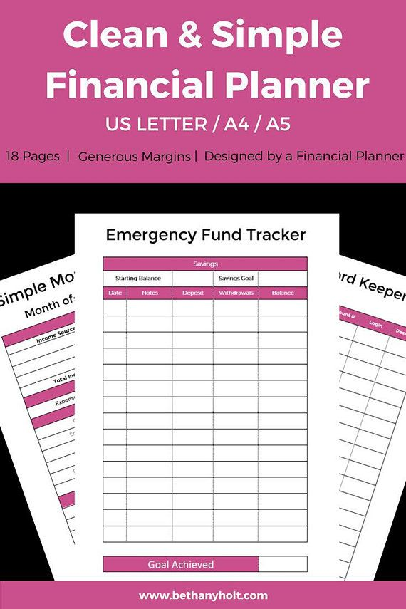 Budgeting Planner A5 Planner Finance Tracking Simple