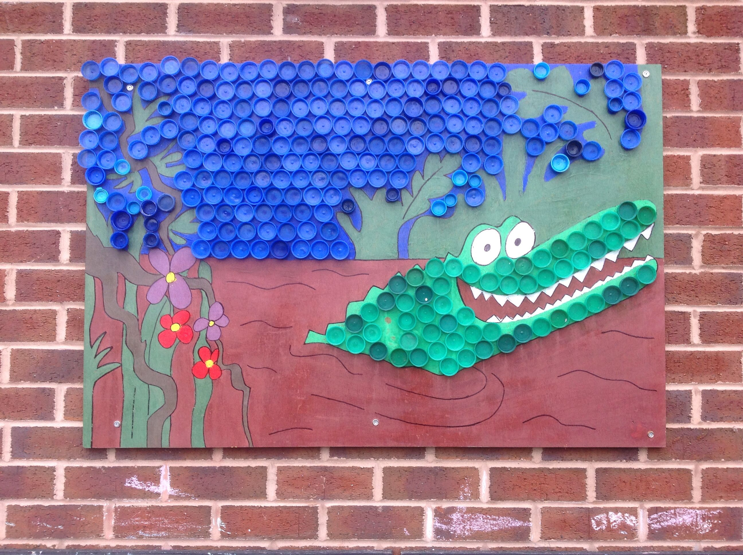 Our Completed Enormous Crocodile Art Project With Images