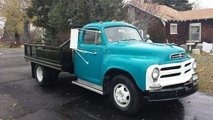 1956 Studebaker 1 Ton Transtar Flatbed For Sale Mt 5 000 Studebaker Studebaker Trucks Commercial Vehicle