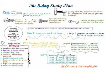 the 5 day study plan this article is an overview of information and contains helpful pointers for study planning check out the blog post if you are