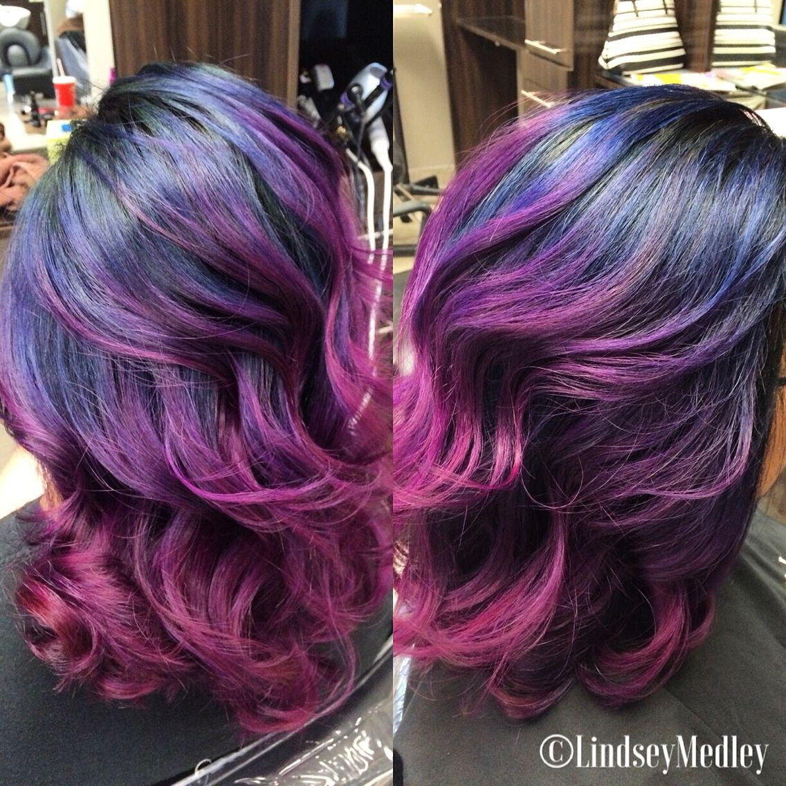 Multicolored Ombre Using Joico S Color Intensity Colors By Lindsey Medley At J Randall Salon In