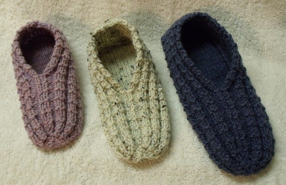 Knitting Shoes Patterns : Easy to knit slippers knitted pinterest