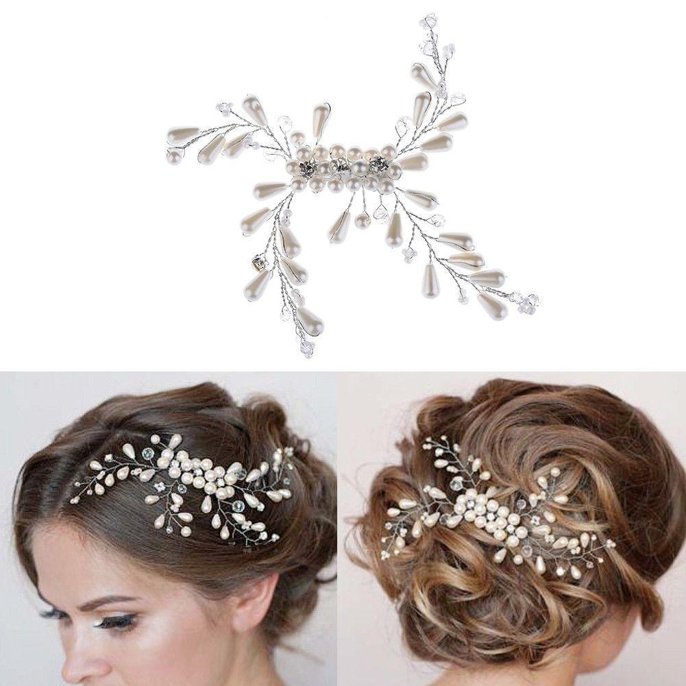 Handmade pearl headdress for bride wedding formal dress decor