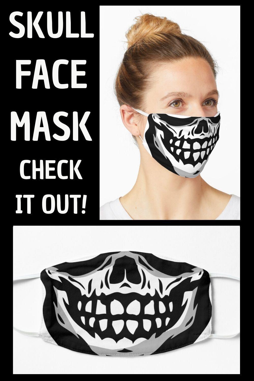 Skull Mask Mask By Aj Liber In 2020 Skull Face Mask Halloween Face Mask Diy Face Mask Peel