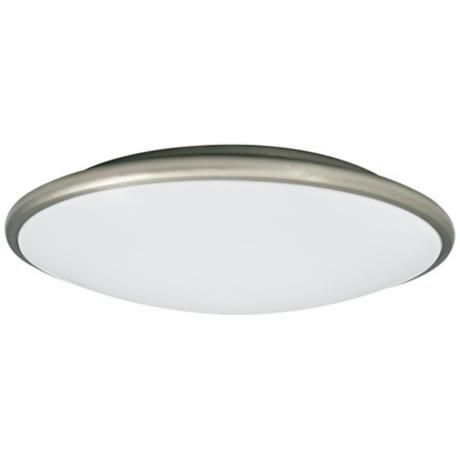 Partia Flushmount 13 Wide Nickel Led Ceiling Light 1c049 Lamps Plus Ceiling Lights Led Ceiling Led Ceiling Lights