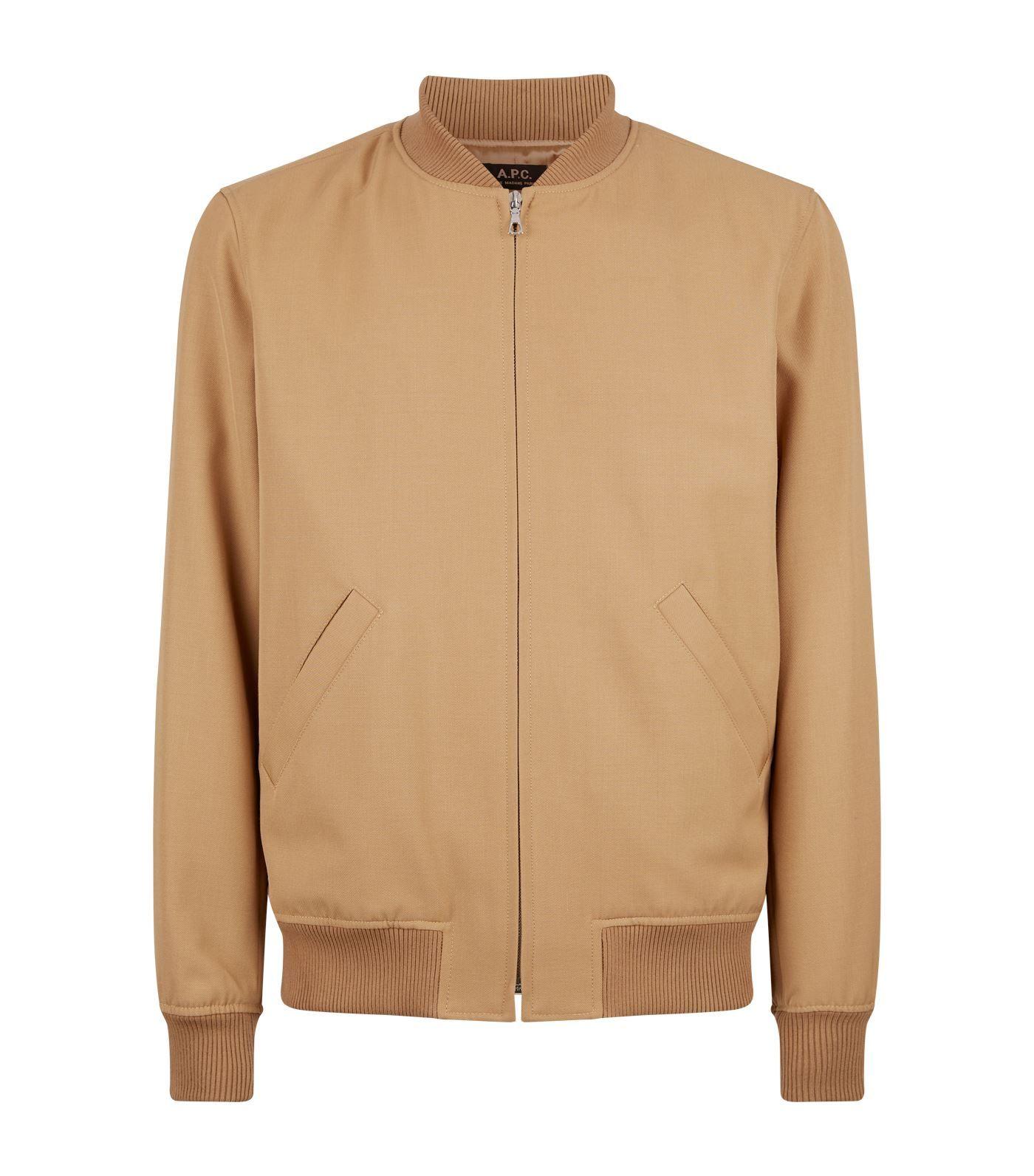 A P C Bomber Jacket A P C Cloth Bomber Jacket Jackets Blazer Coat [ 1592 x 1400 Pixel ]
