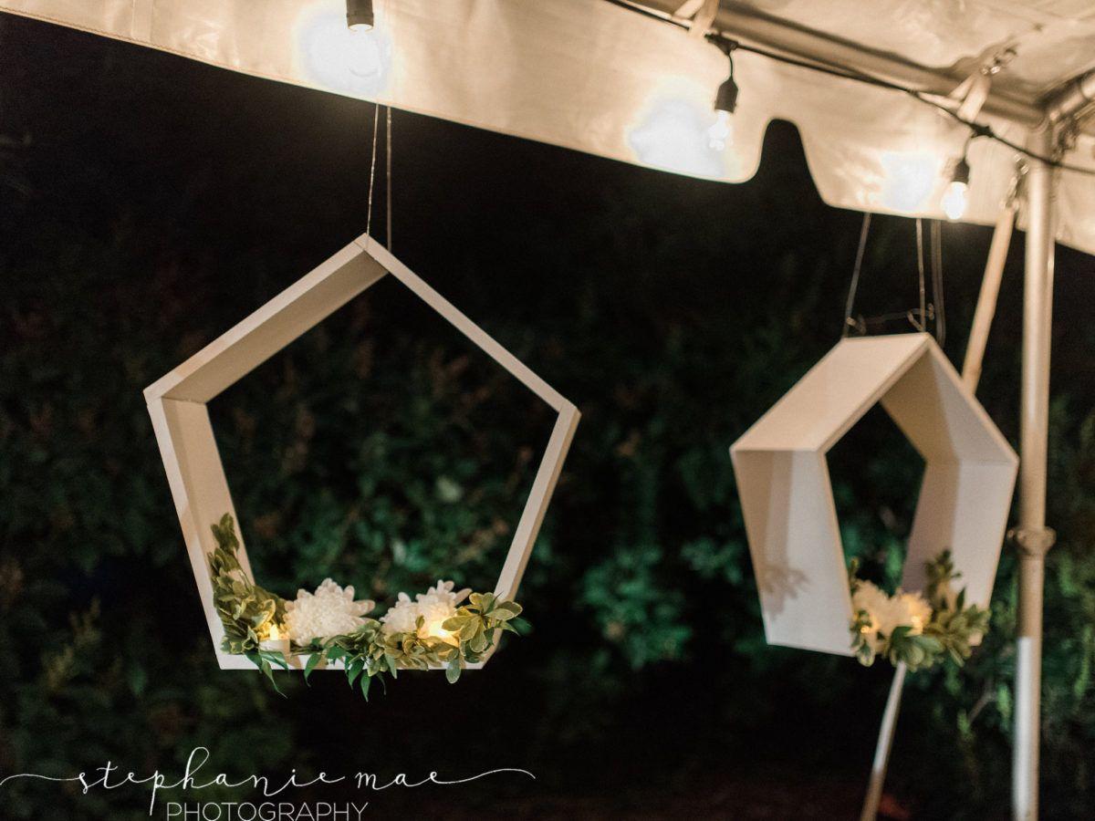 Floating head table decor, Outdoor Garden Wedding