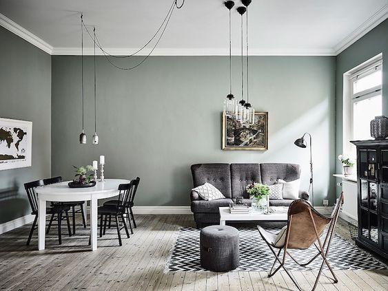1001 id es d co charmantes pour adopter la nuance vert c ladon couleurs murs pinterest. Black Bedroom Furniture Sets. Home Design Ideas