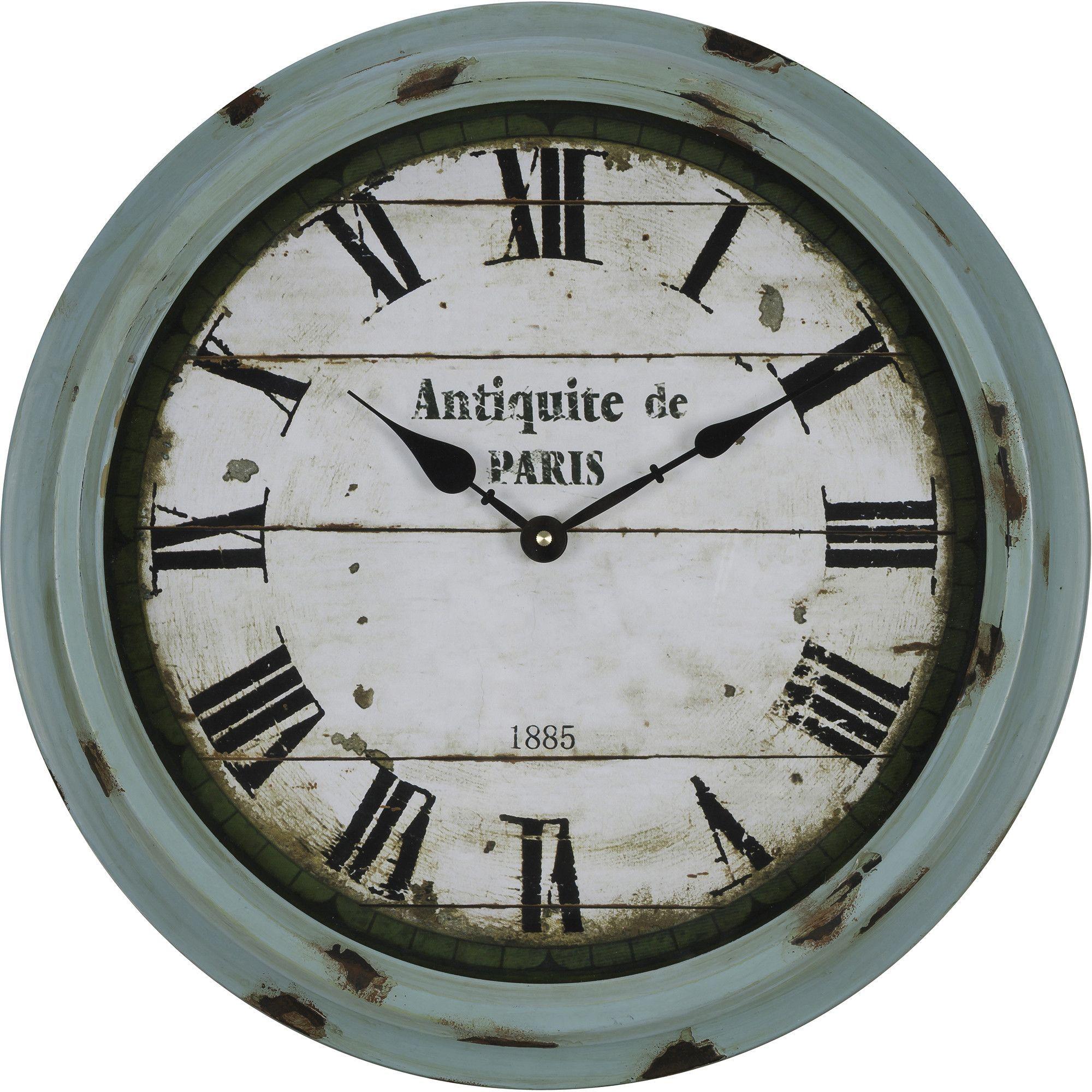 Anthea Wall Clock Green Wall Clocks Rustic Wall Clocks Wall Clock