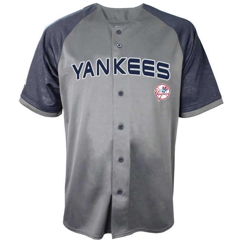 89e3ce2d8 New York Yankees Stitches Glitch Jersey - Charcoal Navy