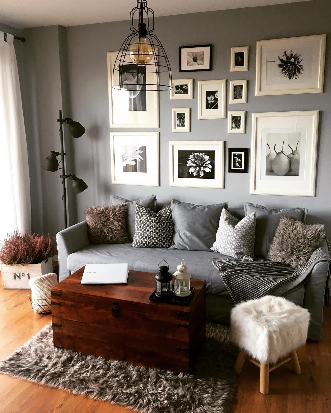Shades Of Grey! In Diesem Gemütlichen Wohnzimmer Kann Man