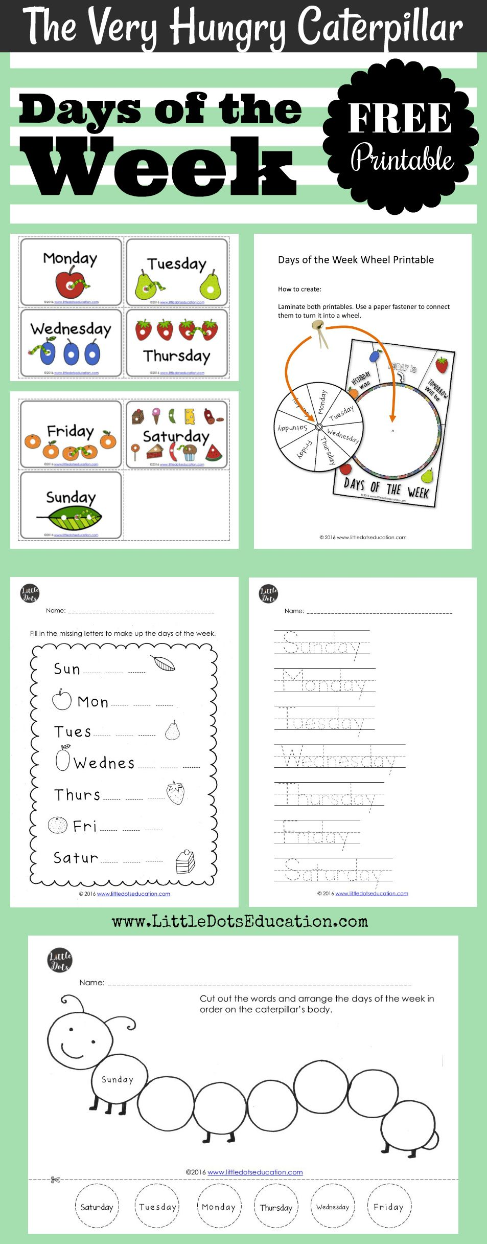 The Very Hungry Caterpillar Theme Free Days Of The Week Printables An Hungry Caterpillar Activities The Very Hungry Caterpillar Activities Very Hungry Caterpillar [ 2432 x 953 Pixel ]
