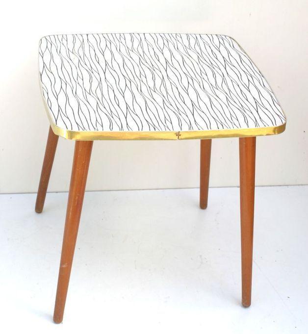 50er Jahre Ddr Design Teetisch Couchtisch Albutan Teetische Haus Deko Couchtisch