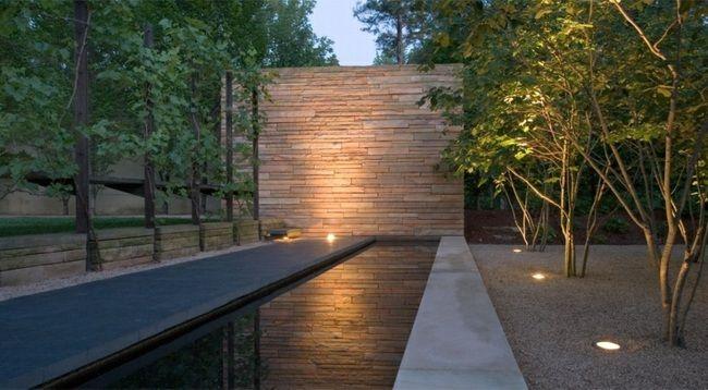 wasserspiegel garten naturstein mauer modern | g a r d e n, Hause und Garten