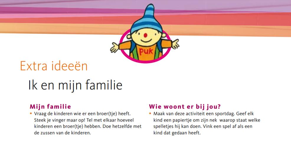 Super Uk & Puk | Extra ideeën bij het thema 'Ik en mijn familie' | Uk &GI92