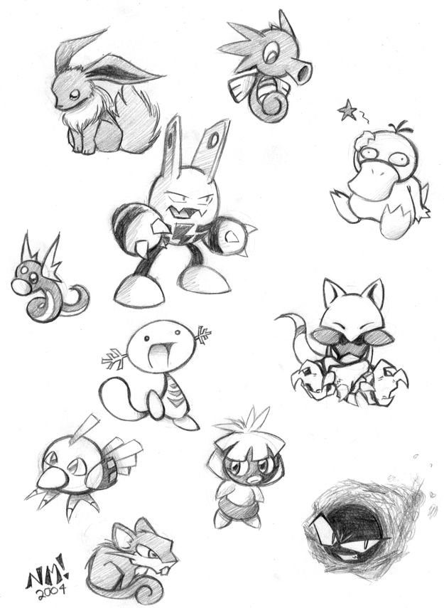 pokemon pencil coloring pages - photo#31