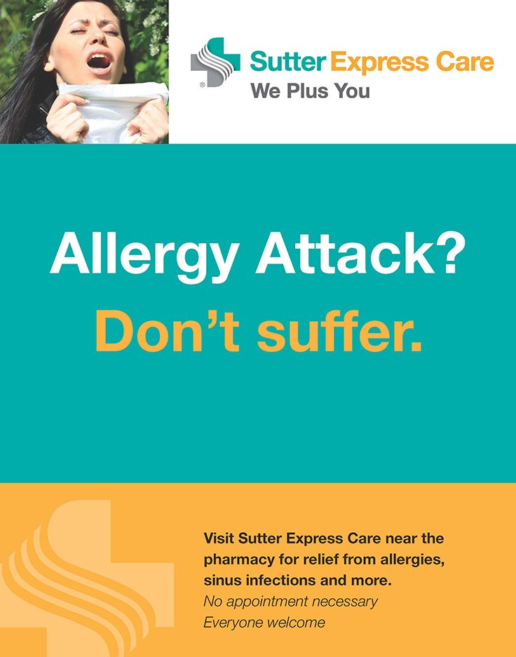 Suffering from Allergies? Visit your local Sutter Express