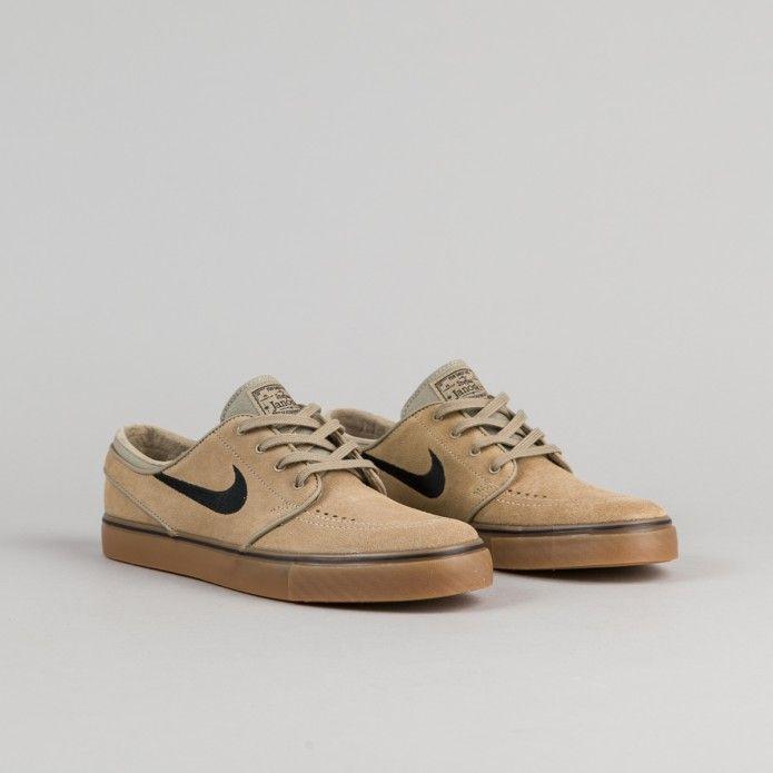 Nike SB Stefan Janoski Shoes Khaki Black Gum Light Brown