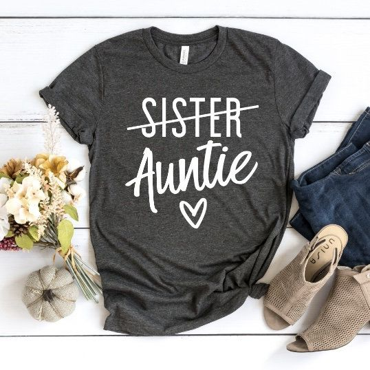 Aunt shirt, pregnancy announcement shirt, promoted to aunt, Pregnancy reveal shirt, pregnancy announcement to aunt, future auntie shirt #auntshirts