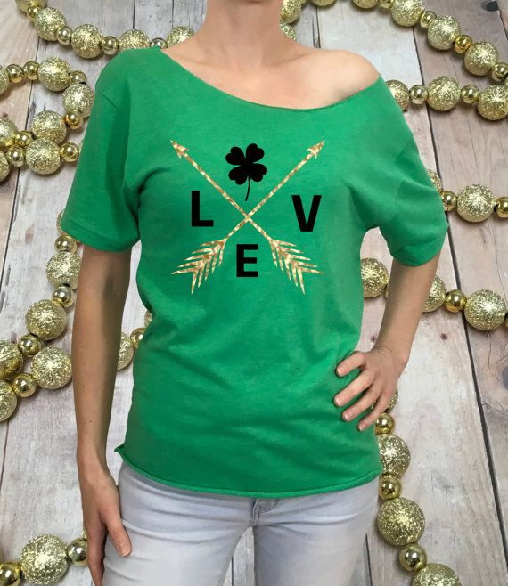 2350a619 st patricks shirt, green shirt, st particks day shirt, st particks off  shoulder, glitter st patricks clover shirt, st paddy shirt