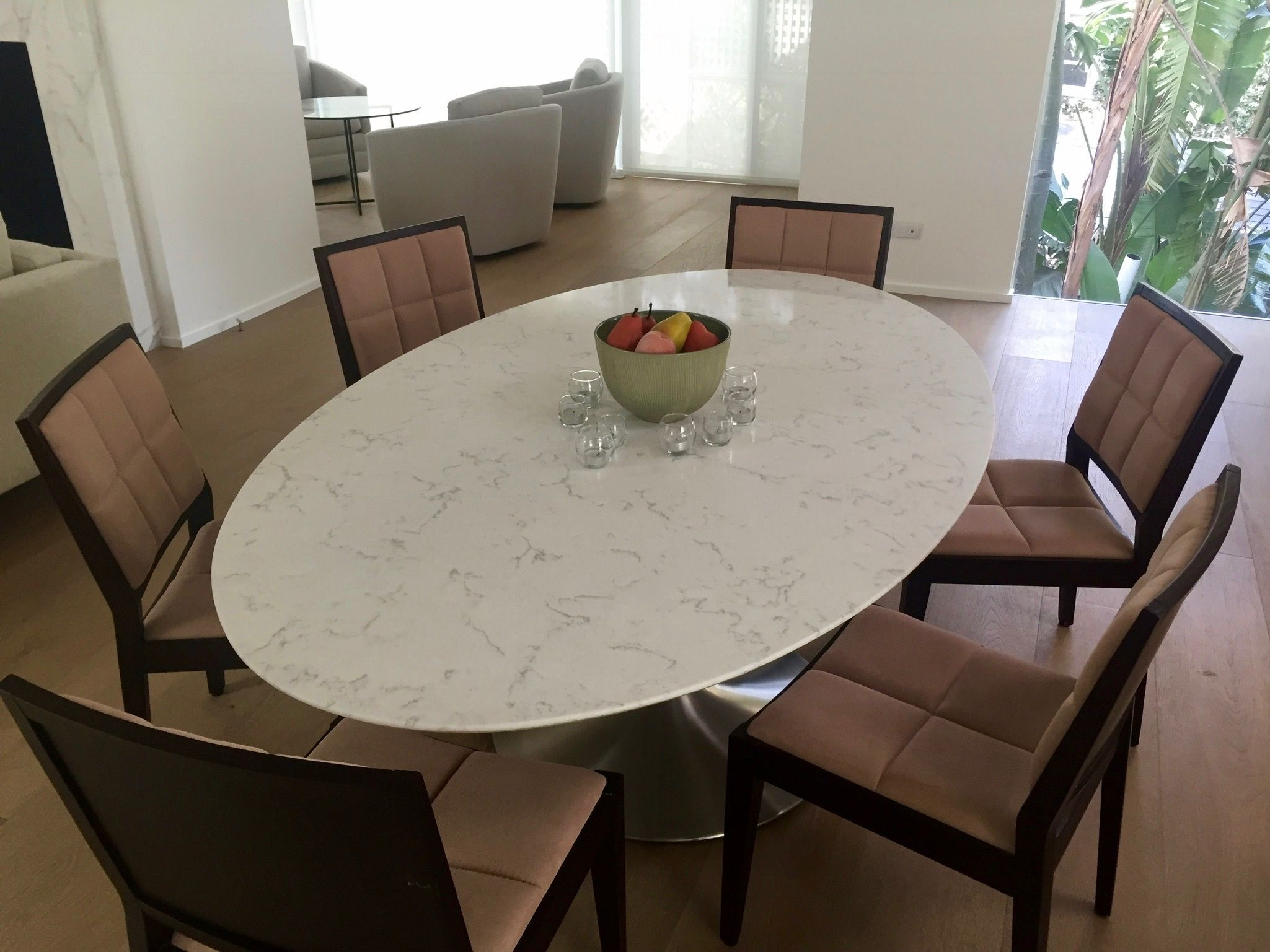 Eat In Luxury Hand Crafted Venatino Quartz Dining Room Table From