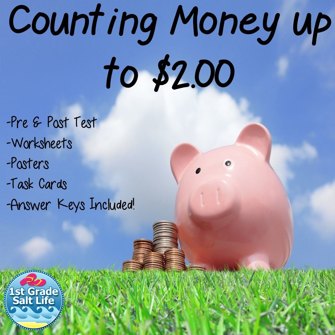 Money And Counting Coins Counting Money To 2 00 Va Sol