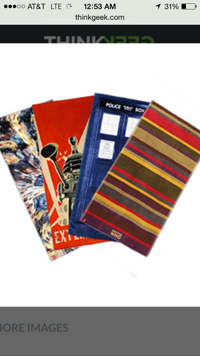 4th Doctor Bath Towel Doctor Who