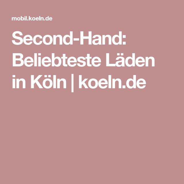 Second-Hand: Beliebteste Läden in Köln   koeln.de