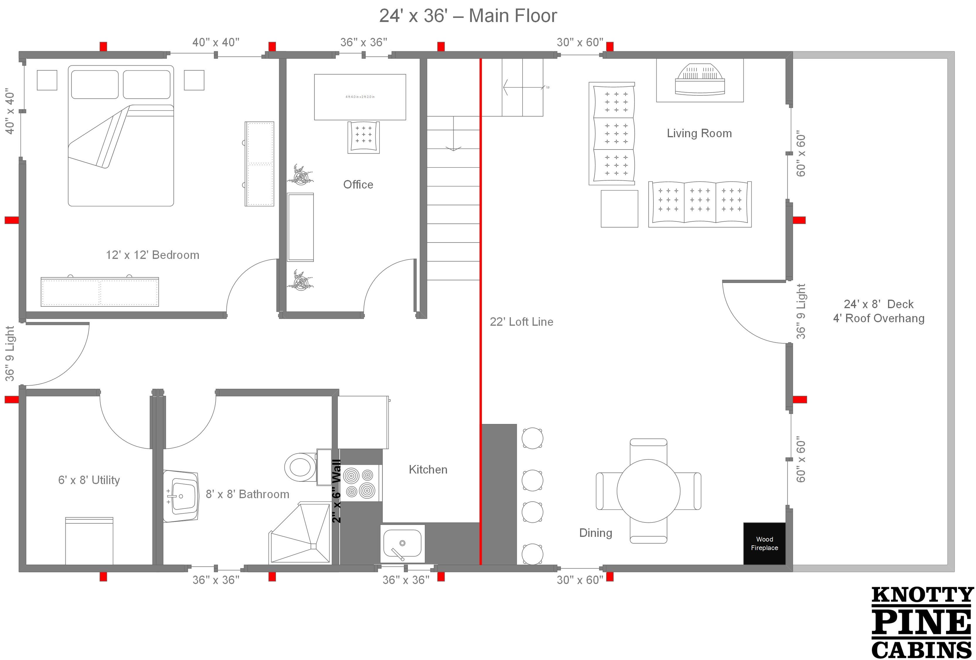 24 x 36 cabin plans with loft bing images cabin pinterest