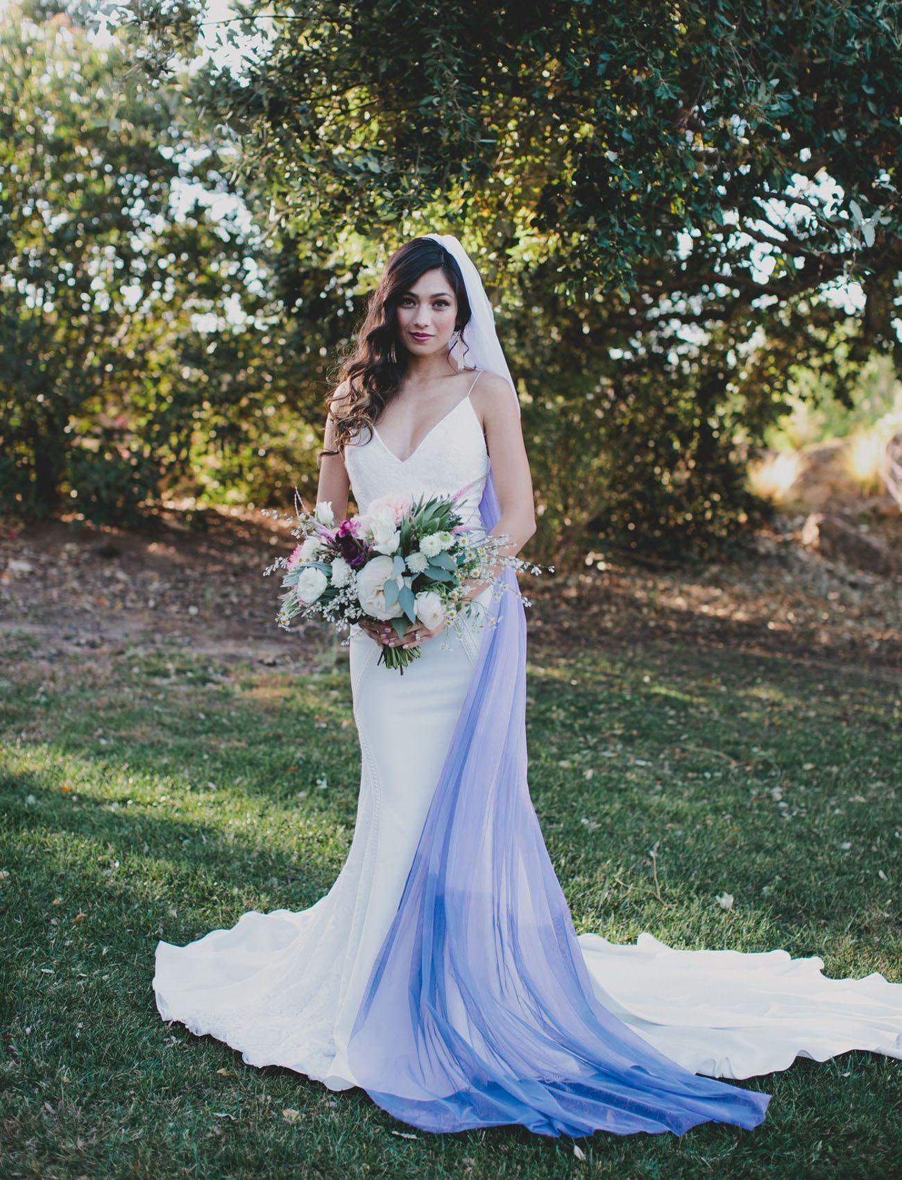 Diy Your Own Ultra Violet Veil Green Wedding Shoes Diy Wedding Shoes Bridesmaid Dresses Boho Wedding Dresses [ 1700 x 1300 Pixel ]