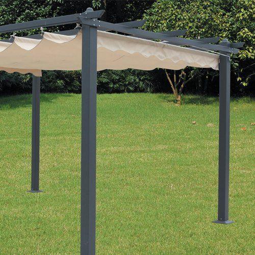 Pergola in alluminio per esterno cm 300x400 in poliestere: Amazon.it: Giardino e…