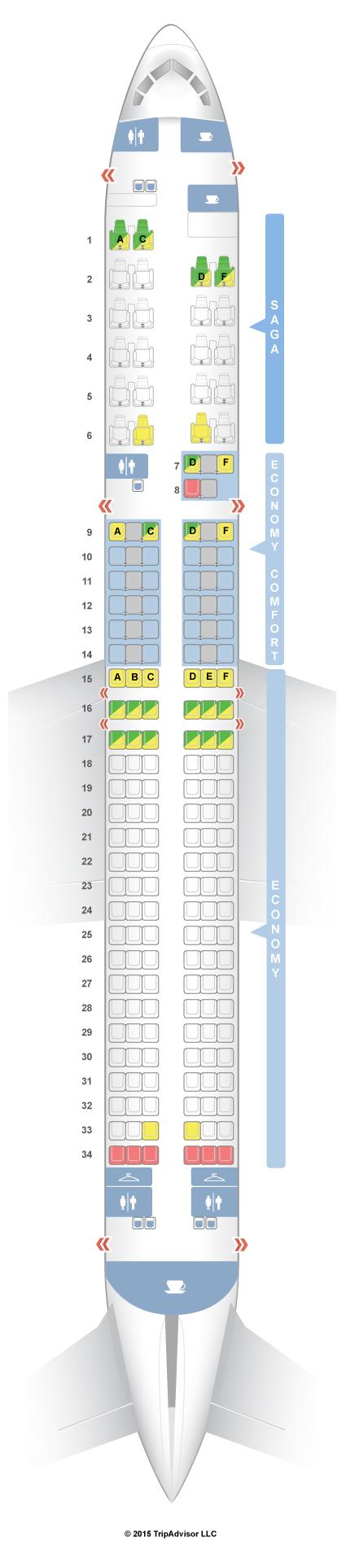 Seatguru seat map icelandair boeing also travel rh pinterest