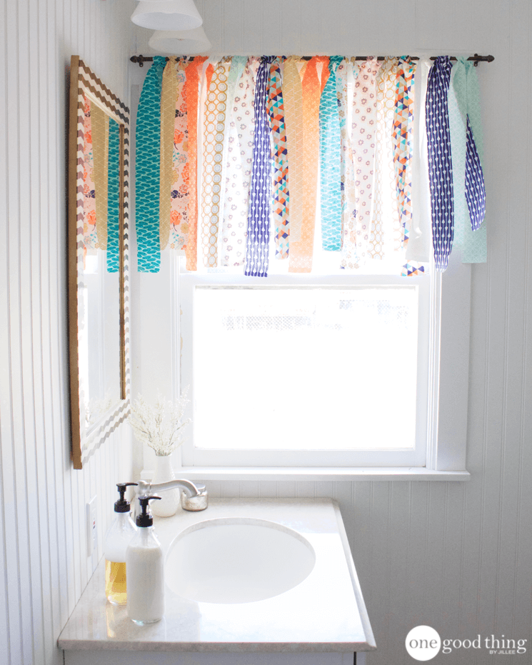 How To Make A Shabby Chic Window Valance In Minutes One Good Thing By Jillee