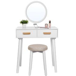 new product 59a78 5404c Amalia Compact Dressing Table Set with Mirror   interior ...