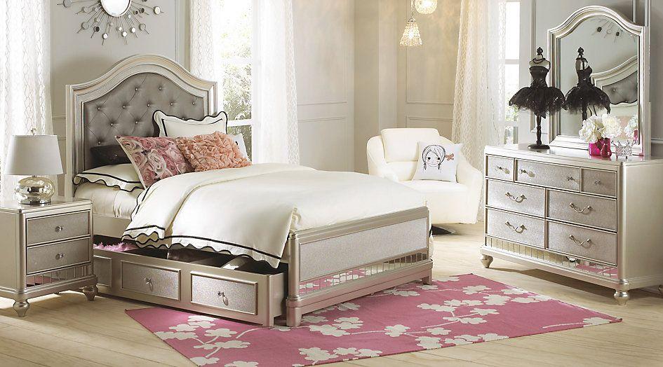 Full Bedroom Sets Sofia Vergara Petit Paris Champagne 6 Pc Full