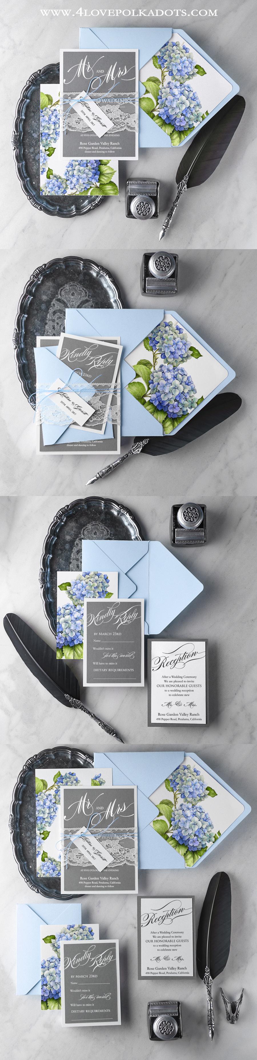 Floral Wedding Invitations #weddinginvitations #stationery #weddinginspirations