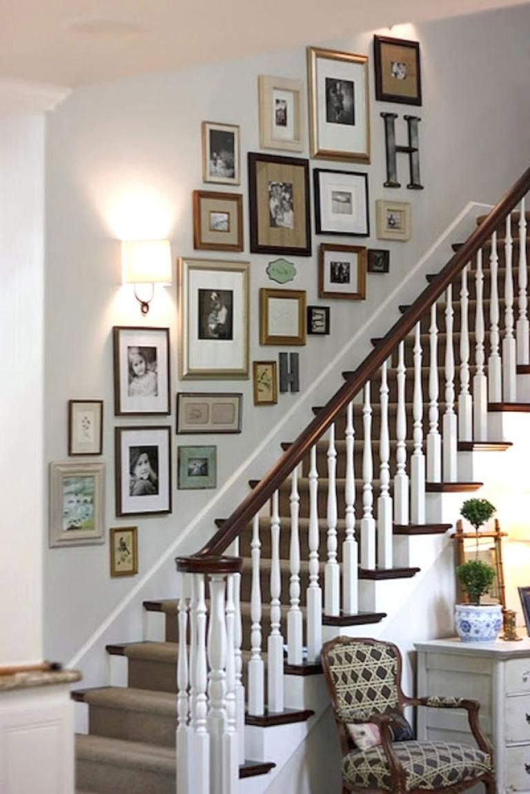 40 Amazing and Creative Photo Wall Display Ideas ... on Creative Staircase Wall Decorating Ideas  id=76962