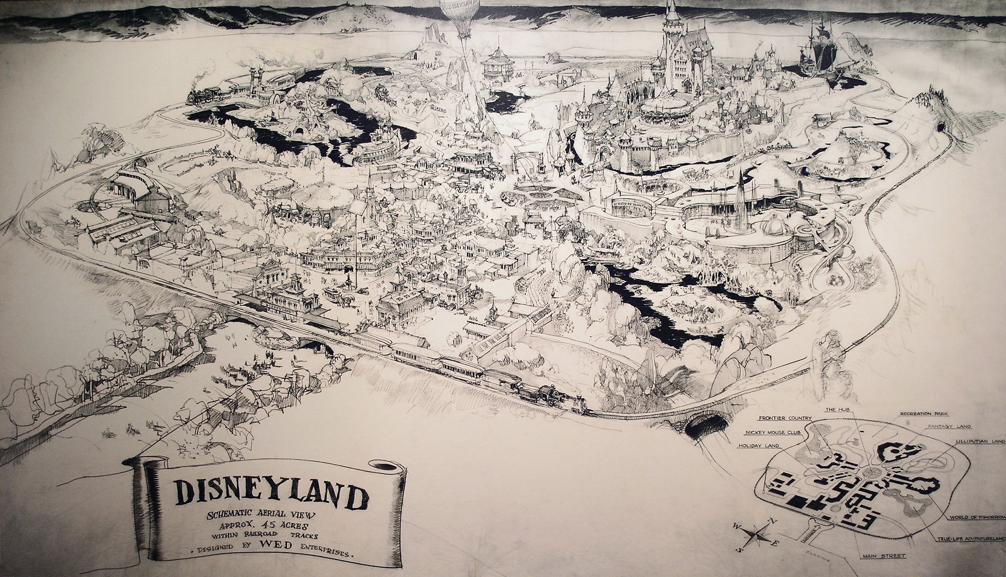 Herb rymans original drawing for the map of disneyland done for herb rymans original drawing for the map of disneyland done for walt when he pitched the gumiabroncs Choice Image