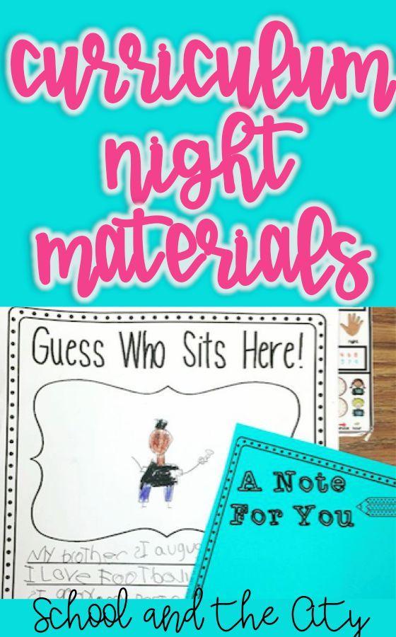 Curriculum Night / Parent Night Pack Pinterest Curriculum night