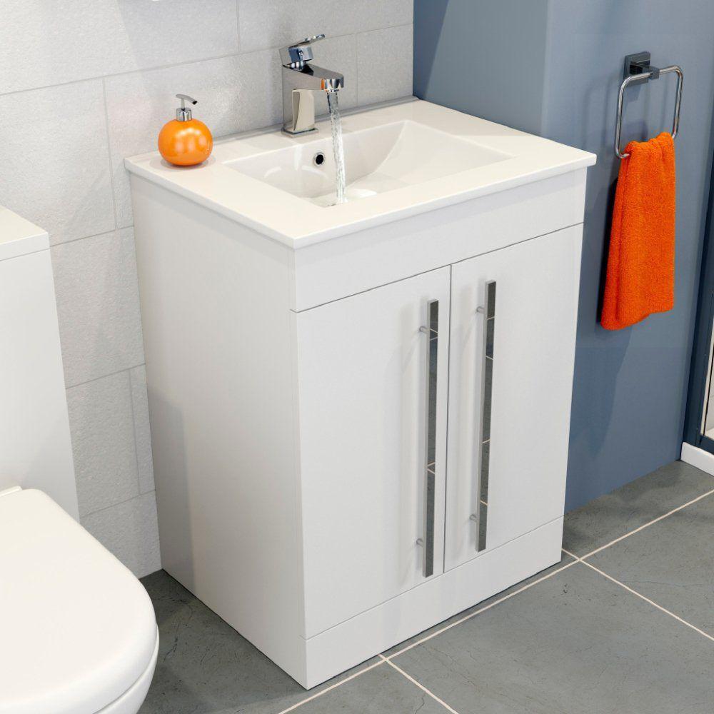 Icona Classic White Gloss Floorstanding 2 Door Vanity. High end ...