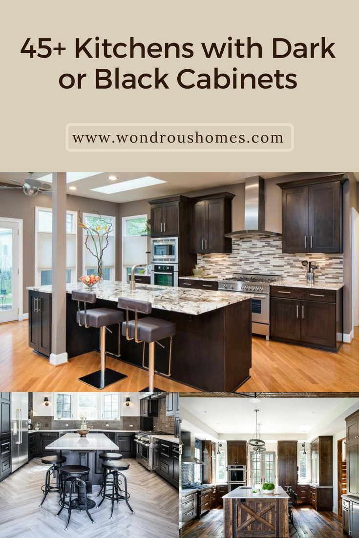 Amazing Black Kitchen Cabinets On Trend For 2018 Black Kitchen Cabinets Painted Modern Rustic Kitchen Cabinets Kitchen Cabinets Dark Wood Kitchen Cabinets