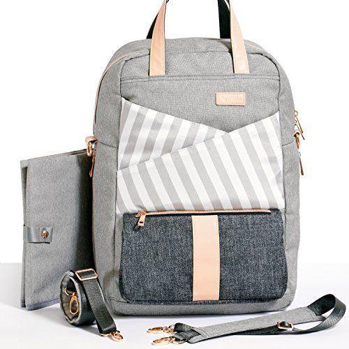 Gadikat Diaper Backpack Dani Collection Ashen Compleme Bag Backpackmoon Childchanging