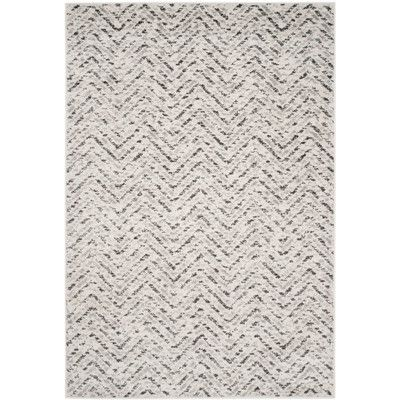 Found it at Wayfair - Seaport Ivory/Charcoal Area Rug