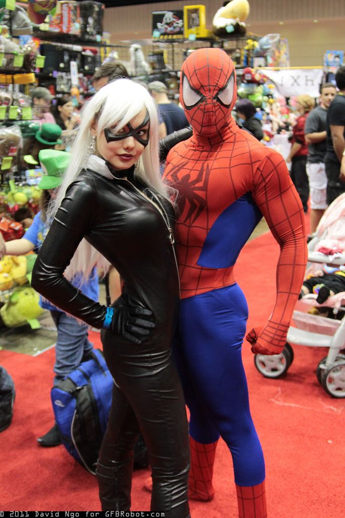 black cat and spiderman cosplay cosplay pinterest