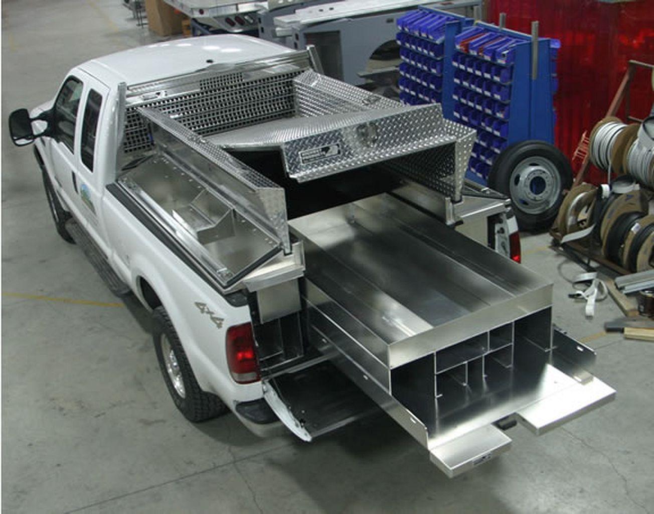 Custom truck bed tool box luminar outdoor lantern