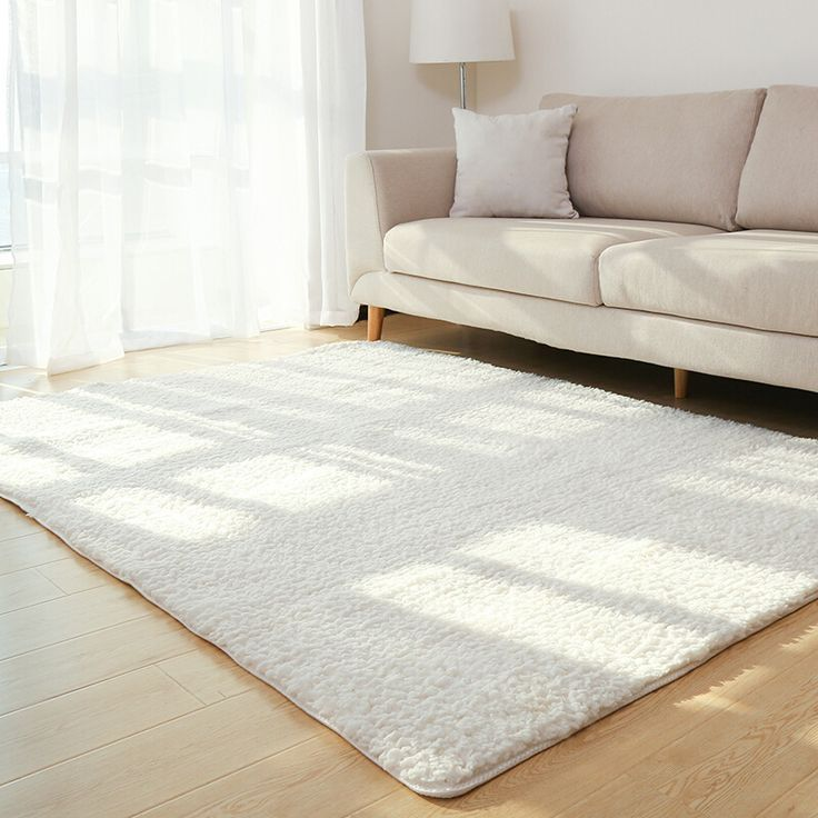 Living Room Rug Area Solid Carpet Fluffy Soft Home Decor White Plush Carpet Bedroom Carpet Ki... Living Room Rug Area Solid Carpet Fluffy Soft Home Decor White Plush Carpet Bedroom Carpet Kitchen Floor Mats White Rug Tapete,