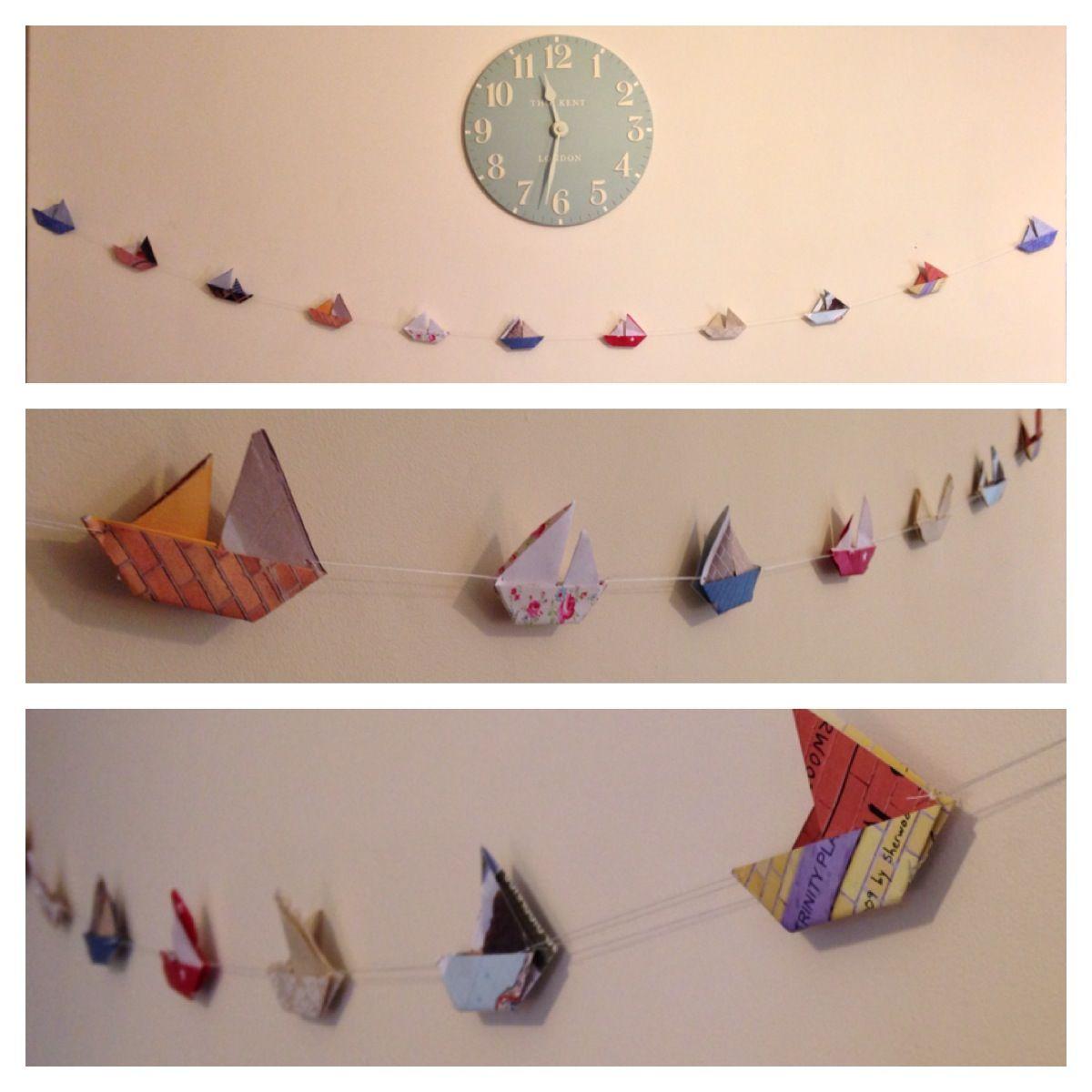 Handmade Origami boat Bunting!   Origami   Pinterest ... - photo#29