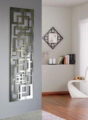 Garderobe Wandgarderobe Design Quadrat 140x40x2 Cm Edelstahl