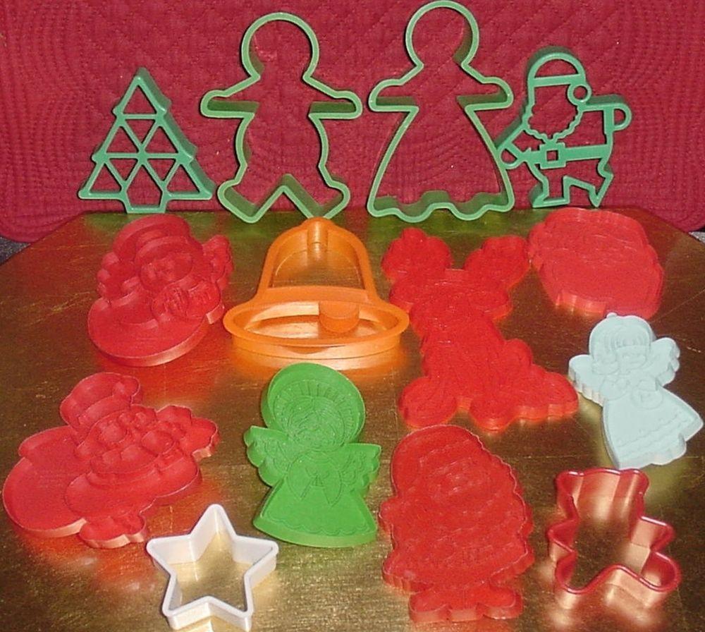Xmas Cookie Cutters Lot 14 Tree Annabelles Wish Vtg Hallmark Angels