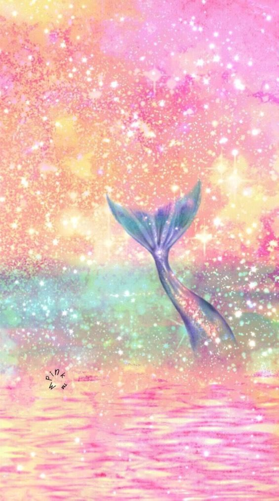 Pink And Mermaid Background With Images Mermaid Wallpaper
